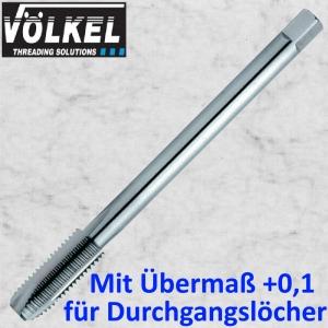 m 12 x 1,75 Maschinengewindebohrer metrisch für Durchgangslöcher, mit Übermaß +0,1mm. Länge=100mm